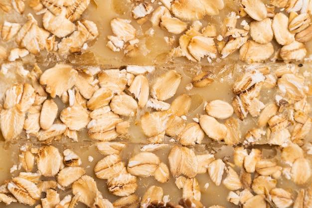 Sabão em close-up de flocos de aveia