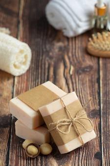 Sabonete de macadâmia, tratamento para a pele