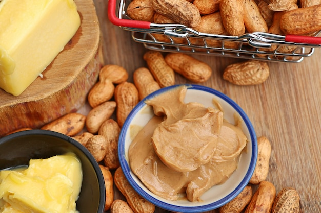 Saborosa manteiga de amendoim cremosa