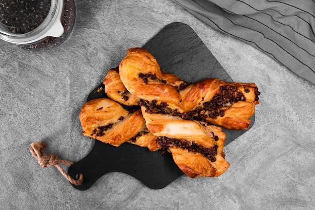 Saborosa pastelaria dinamarquesa pronta para ser servida