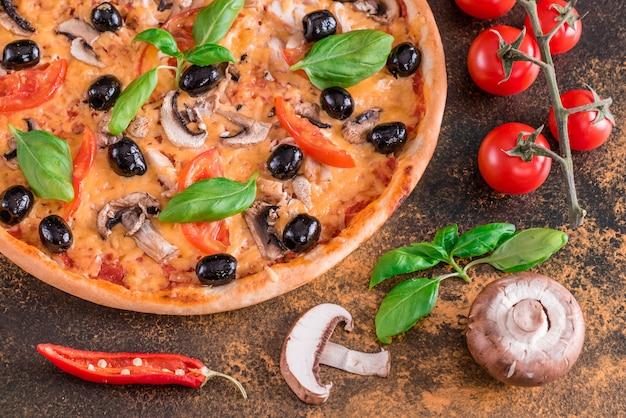 Saborosa pizza quente