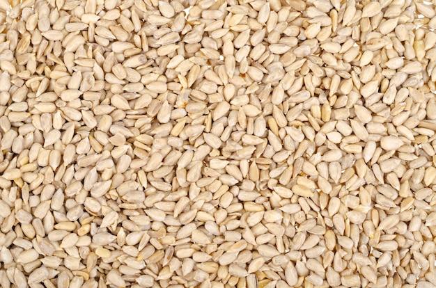 Saborosas sementes de girassol descascadas