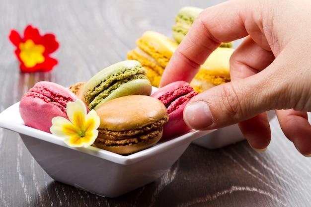 Saboroso biscoito colorido
