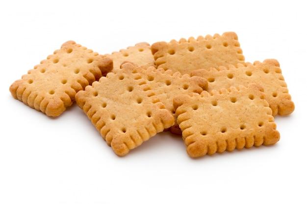 Saborosos biscoitos biscoitos no isolado.