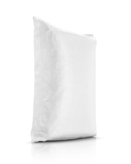 Saco de areia ou saco de lona plástica branca para arroz ou produto agrícola