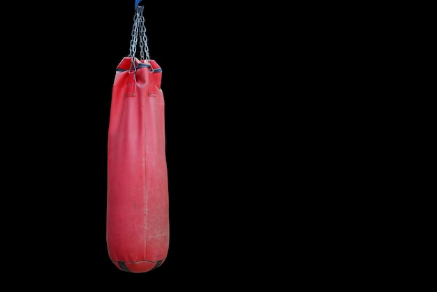 Saco de areia para prática de boxe