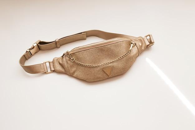 Saco de cinto feminino glamoroso. bolsa da moda