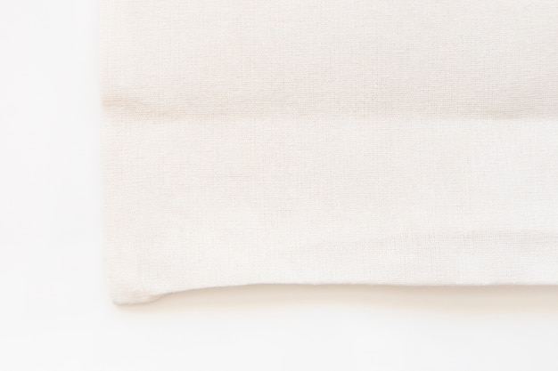 Saco de compras de pano de tecido de lona sacola em fundo branco