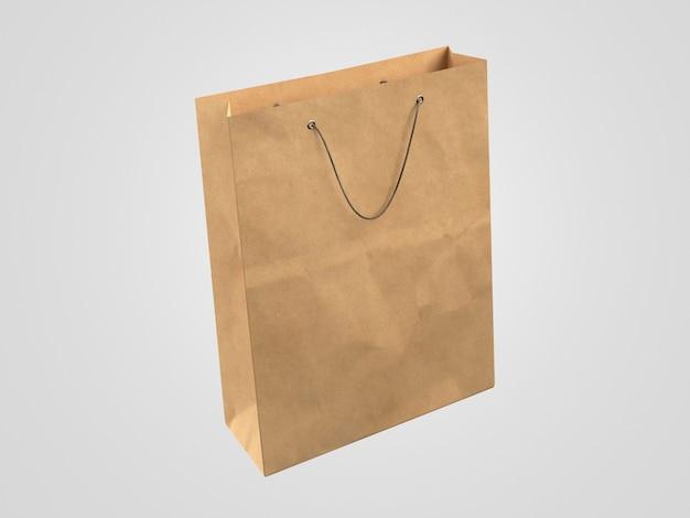 Saco de compras de papel 3d minimalista
