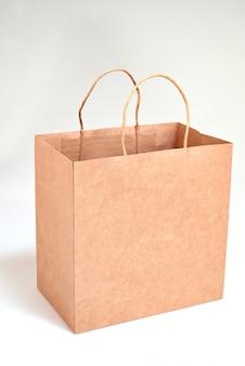 Saco de compras de papel reciclado de luxo