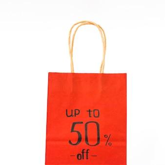 Saco de compras de papel vermelho