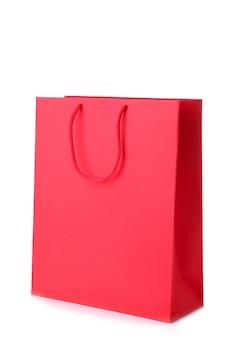 Saco de compras vermelho isolado