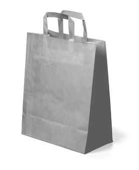 Saco de papel cinza