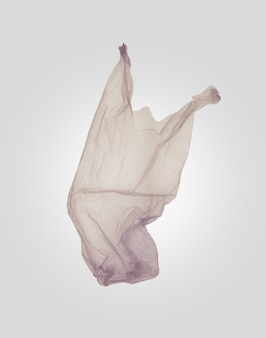 Saco de plástico, resíduos de plástico. zero desperdício e conceito de vida ecológica
