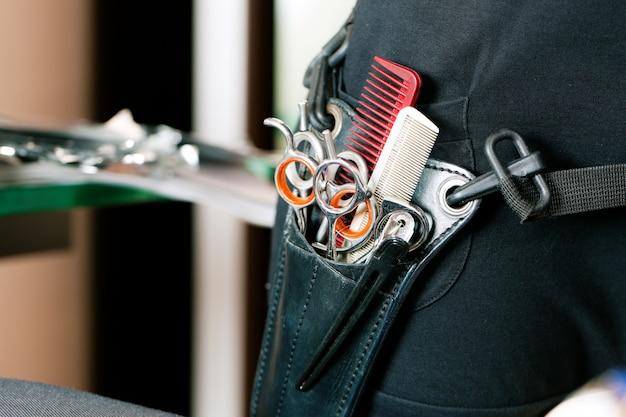 Saco de tesoura ou coldre de cabeleireiro