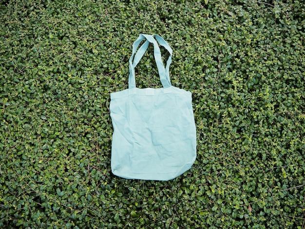 Sacola de compras simples tote salvar a terra vai verde