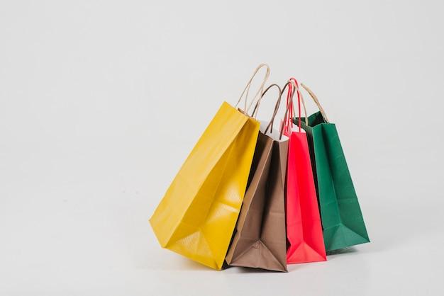 Sacolas de compras de papel