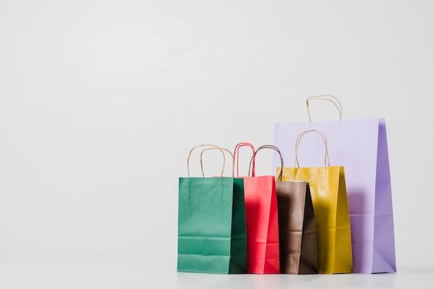 Sacolas de compras de papelão