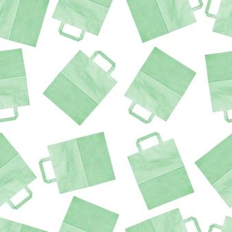Sacolas de papel coloridas em um fundo branco