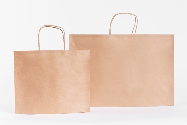 Sacolas de papel pardo para compras