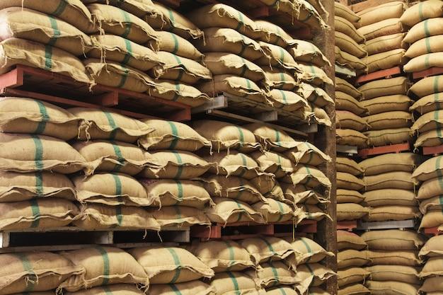 Sacos de cânhamo de empilhamento de arroz