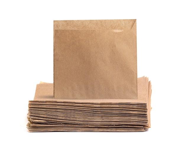 Sacos de papel descartáveis