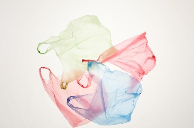 Sacos plásticos descartados