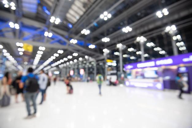 Safra de férias de aeroporto turva abstrata