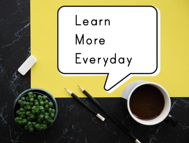 Saiba mais idéias do dia-a-dia improvement insight wisdom Foto gratuita