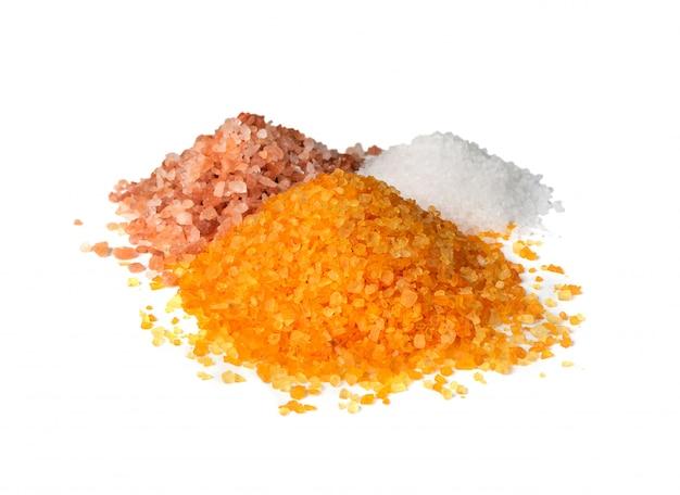 Sais de banho aromáticos coloridos