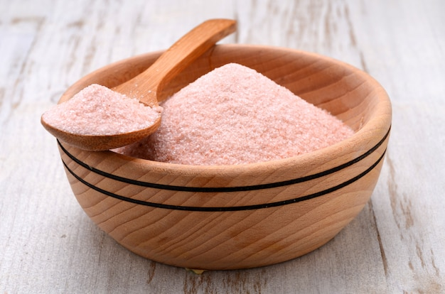 Sal de cristal rosa do himalaia