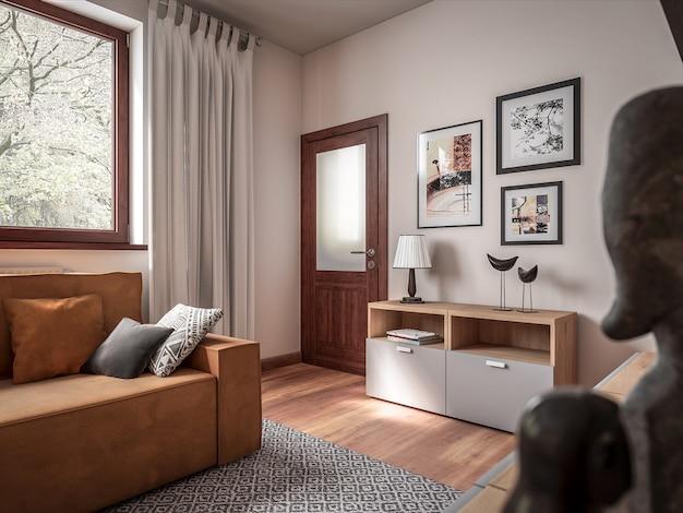 Sala de arquitetura 3d