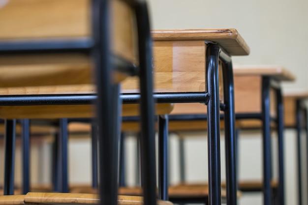 Sala de aula vazia de escola