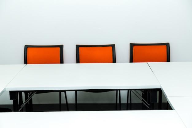 Sala de aula vazia ou sala de seminário