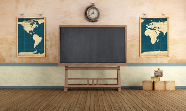 Sala de aula vintage