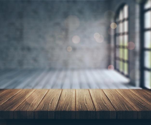 Sala de borrão com janelas