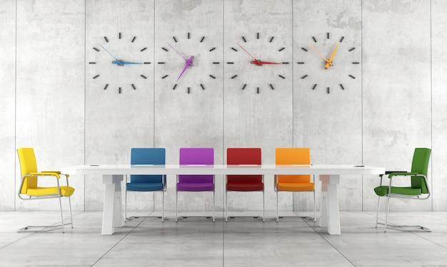 Sala de conferências colorida
