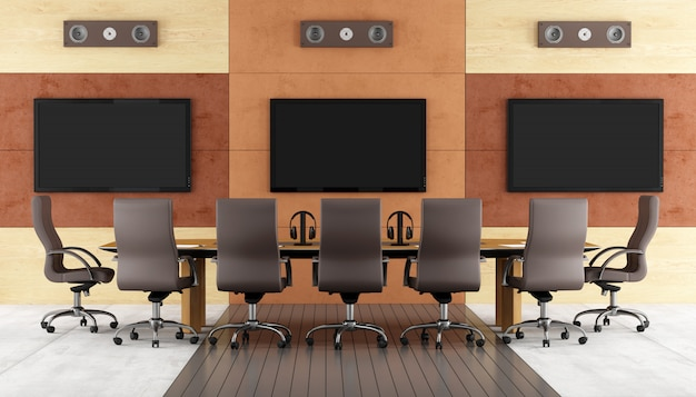 Sala de conferências contemporânea