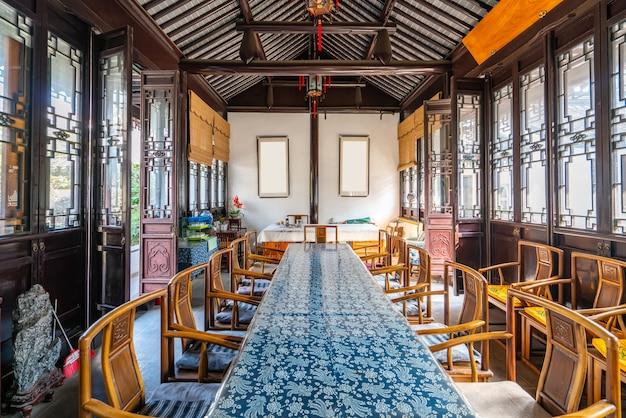 Sala de conferências de arquitetura chinesa