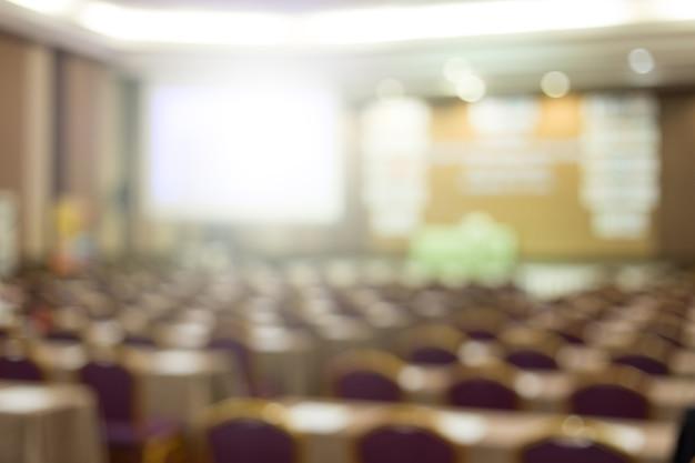 Sala de conferências vazia ou fundo da sala de seminário.
