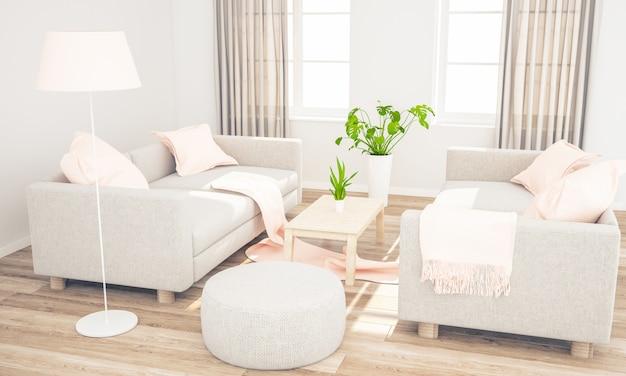 Sala de estar com sofás aconchegantes