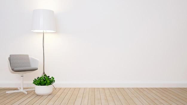 Sala de estar em casa ou apartamento - renderização em 3d