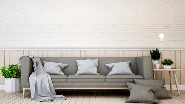 Sala de estar em casa ou apartamento