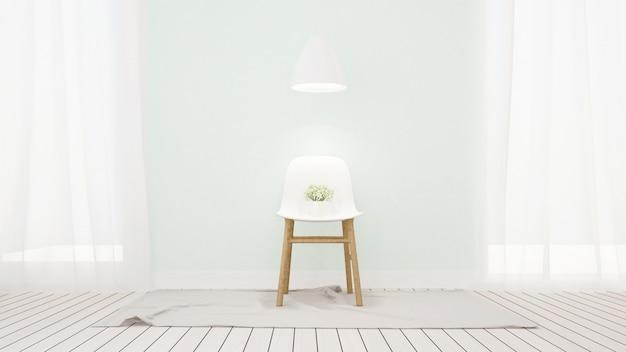 Sala de estar em design limpo em casa ou apartamento