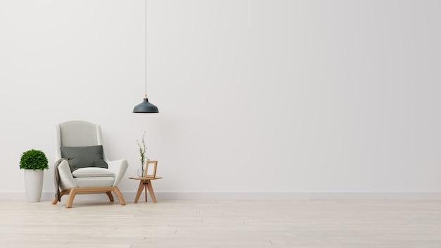 Sala de estar interior cartaz com sofá branco colorido.