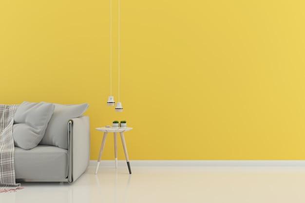 Sala de estar interior casa andar fundo com copyspace
