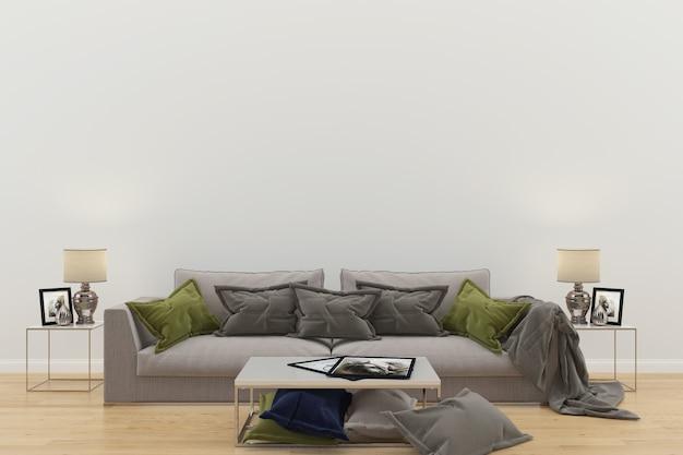 Sala de estar interior casa piso design cópia espaço