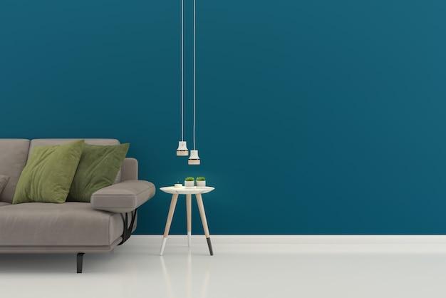 Sala de estar interior casa piso modelo fundo mock up design cópia espaço