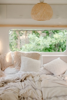 Sala de estar interior im trailer