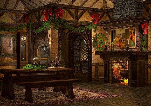 Sala de estar luxery 3d